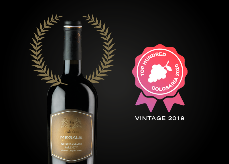 Negroamaro Salento Megale 2019 among Paolo Massobrio's Top Hundred 2020