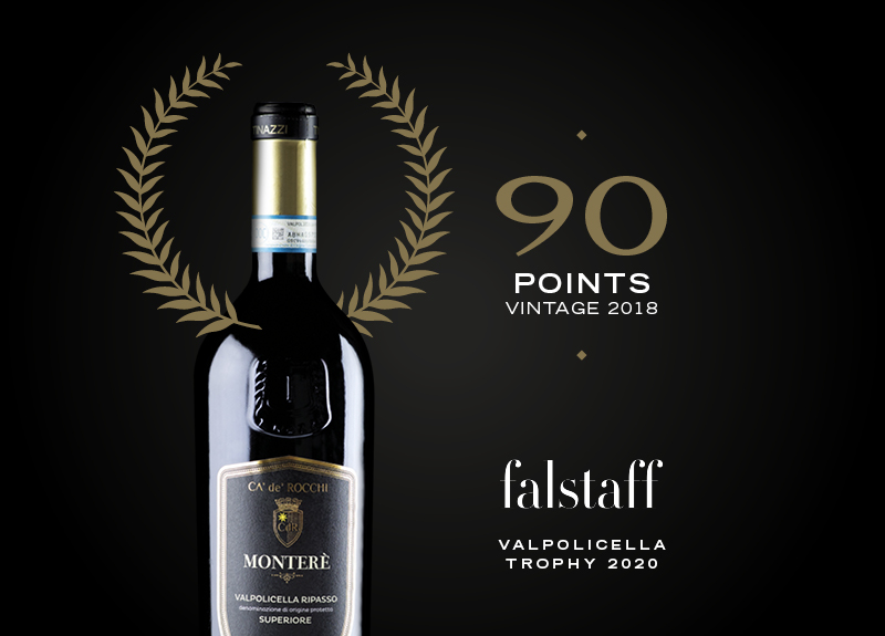Ripasso Monterè 2018 awarded by Falstaff