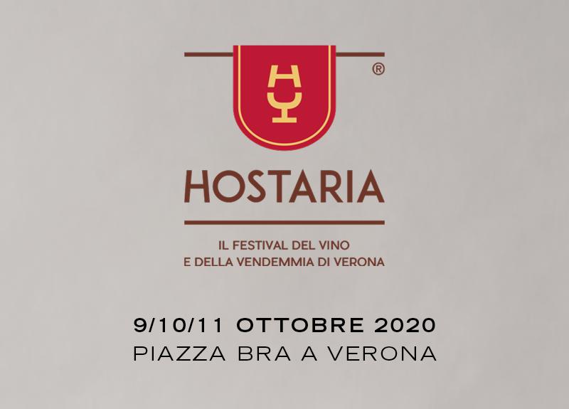 Dal 9 all'11 ottobre protagonisti a Verona per Hostaria 2020