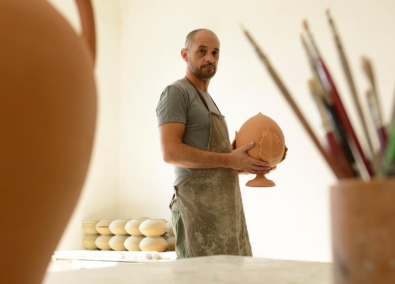 Keramik und Wein aus Apulien