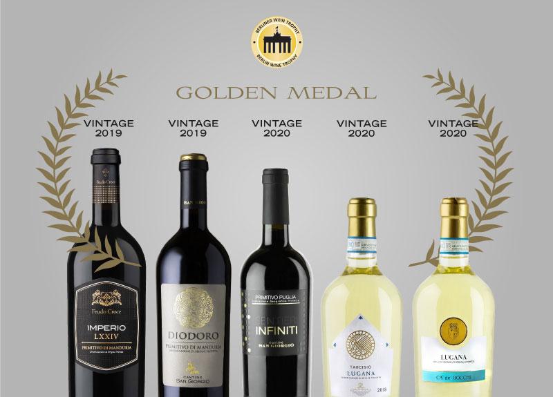 Il Lugana e il Primitivo premiati al Berliner Wein Trophy