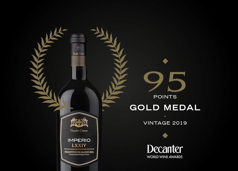 MEDAGLIA D'ORO AL DECANTER WORLD WINE AWARD