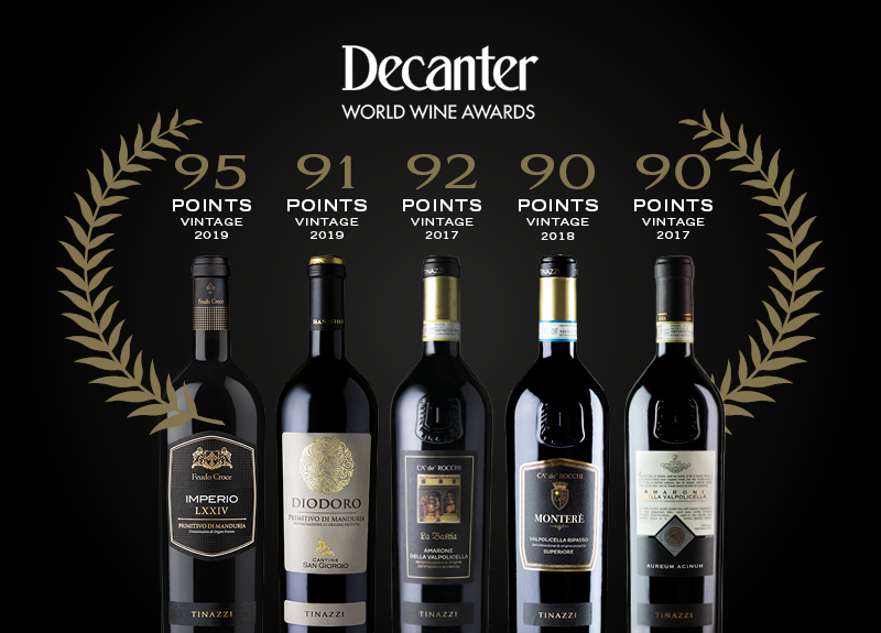 Venetian and Apulian wines awarded by Decanter